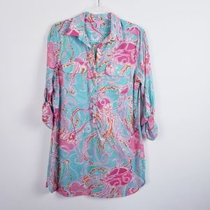 Lilly Pulitzer -  Captiva Tunic Cover Up Size M